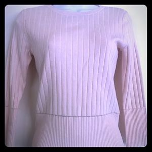 Willi Smith , pink knitwear top 58%silk size S